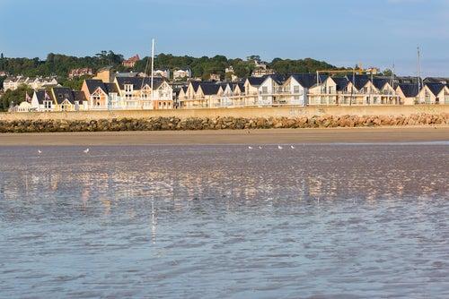 Vista de Deauville en Francia