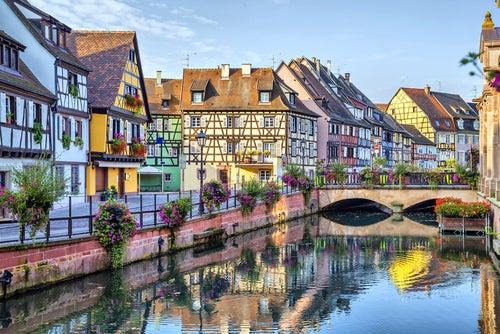 Vista de Colmar en Francia
