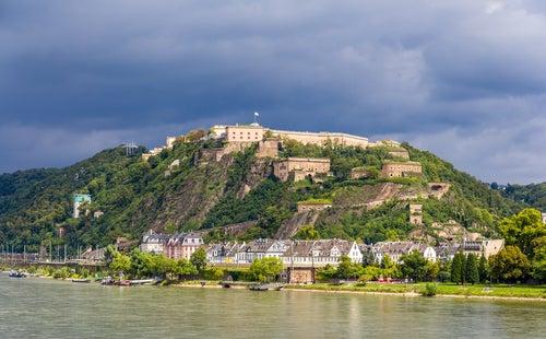 Vista deKoblenz en el Rhin romántico