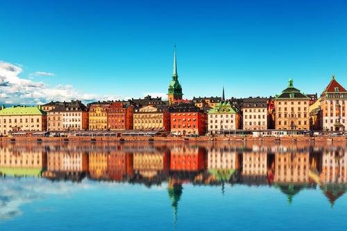 Vista de Estocolmo en Suecia