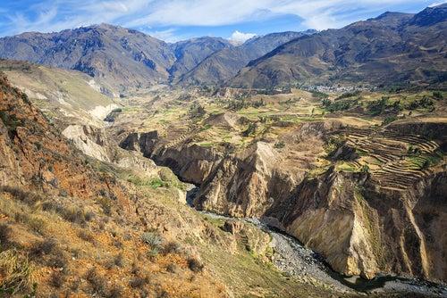 Desfiladero en el Cañón de Colca