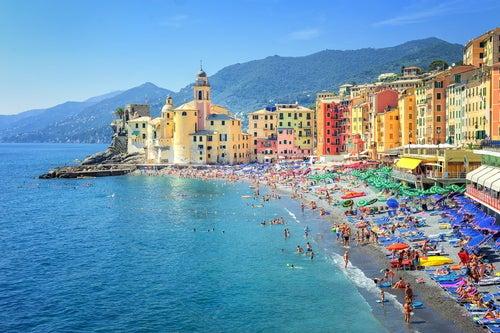Vista de Camogli en la Riviera italiana