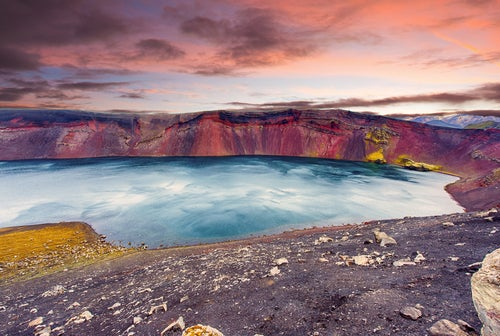 Lago Ljotipolur en Islandia