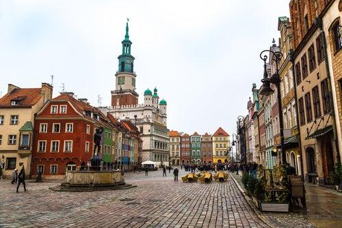 Plaza de Poznan en Polonia