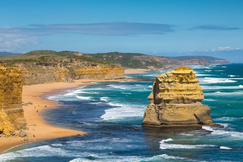 Vista de la Great Ocean Road en Australia