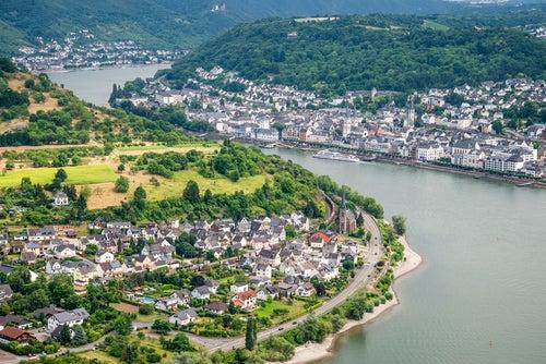 Vista deBoppard en el Rhin romántico