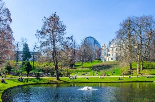Parque de la Orangerie en Estrasburgo