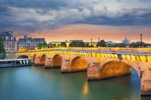 Romántico Pont Neuf en PAris