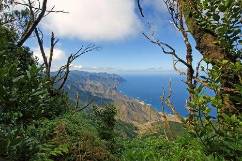 Vista desde las montañas de Anaga