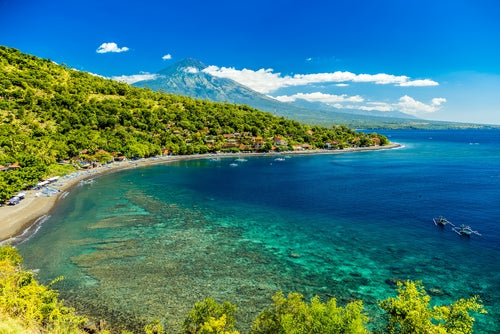 Paisaje de Amed en Bali