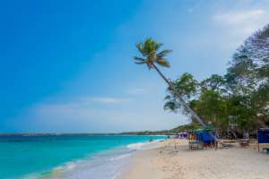 Playa Blanca en Cartagena de Indias