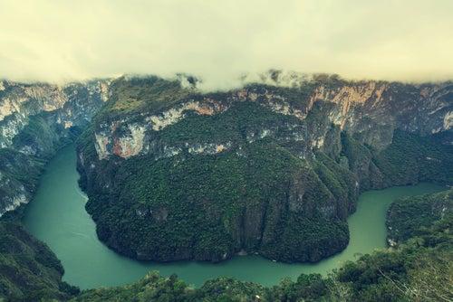Desfiladero en el Cañón del Sumidero