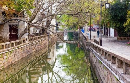 Canales en Suzhou en China