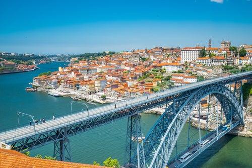Vista de Oporto en Portugal