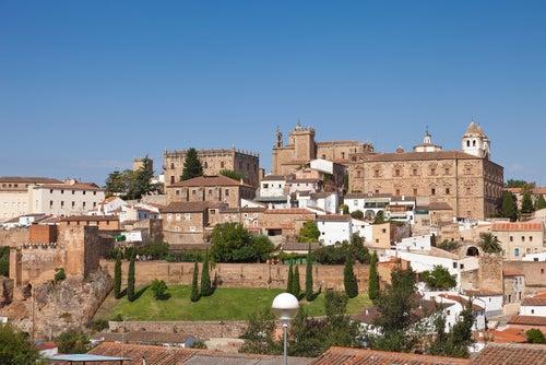 Vista de Cáceres en Extremadura