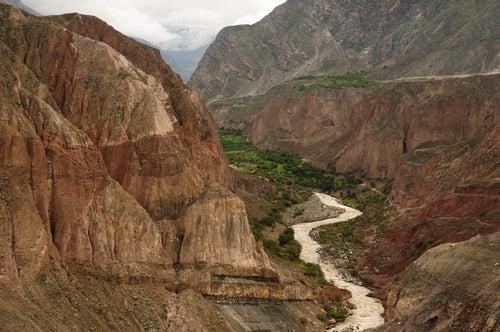 Desfiladero en el Cañón de Cotahuasi