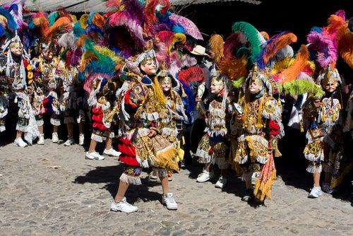 Fiesta en Chichicastenango en Guatemala