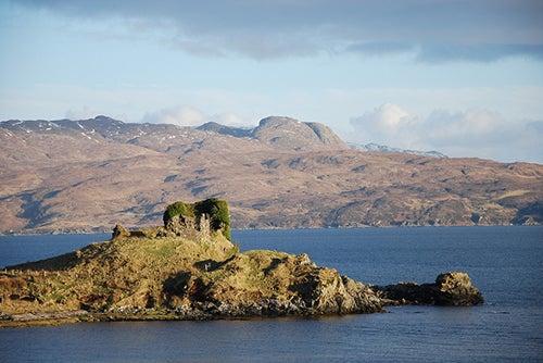 Knock castle en la isla de Skye