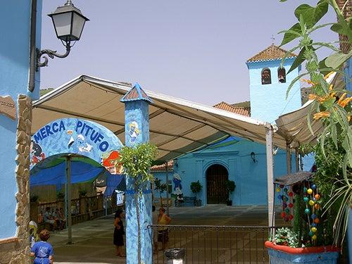 Mercado pitufo en Júzcar