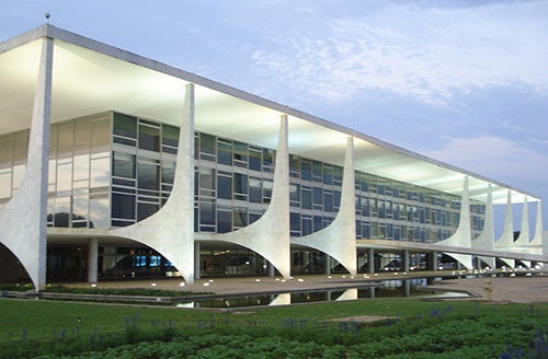 Palacio de Planalto en Brasilia