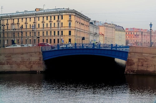 Puente Azul en San Petersburgo