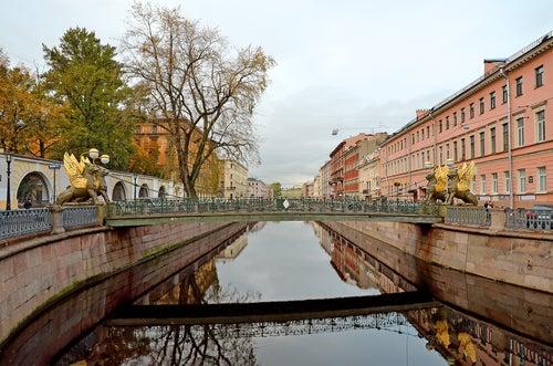 Puente del Banco en San Petersburgo