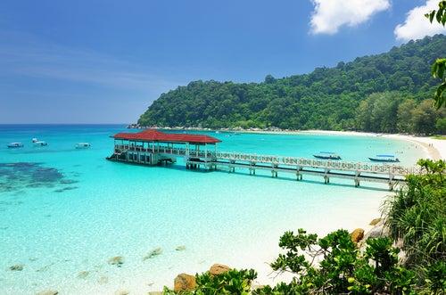 Playa en islas Perhentian