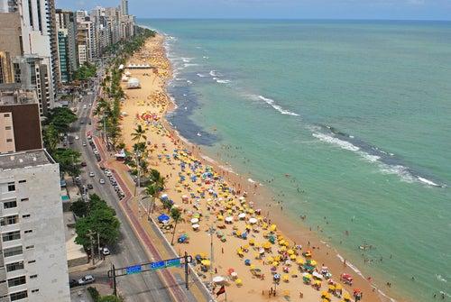 Playa urbana en Recif