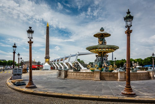 Detalle de la Plaza de la Concordia