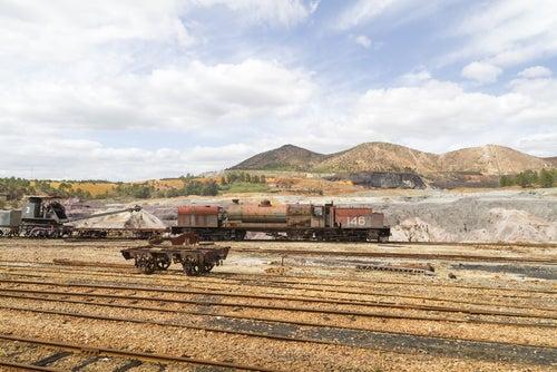 Tren en las minas de Riotinto
