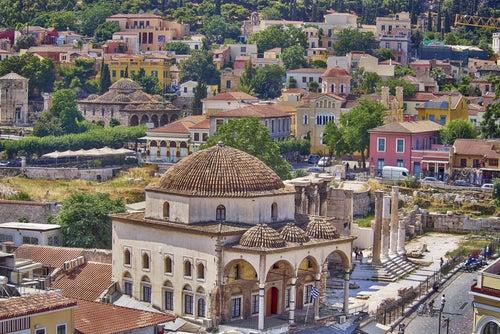 Barrio de Monatiraki en Atenas