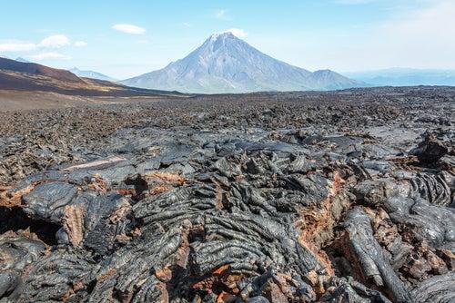 Volcán Tolbachik en Kamchatka