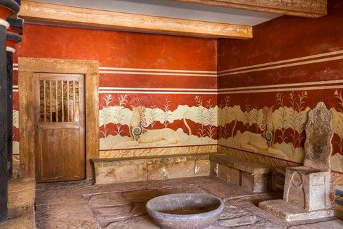 Sala del rey en el palacio de Knossos