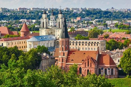 Vista de Kaunas en Lituania