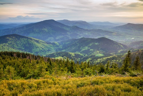 Montañas Beskydy en Moravia