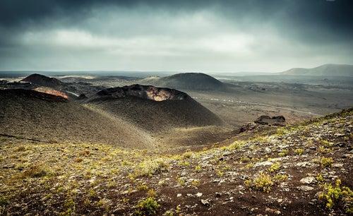 Conos volcánicos en Timanfaya