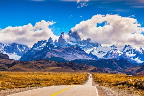 Montañas Fitzroy en la Patagonia