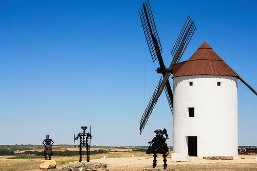 Campo de Criptana en la ruta del Quijote