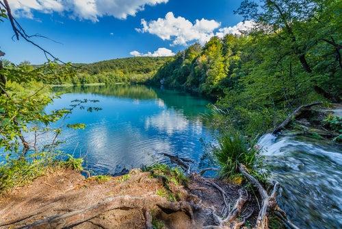 Lago en Plitvice