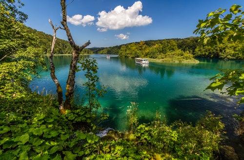 Barcos en Plitvice