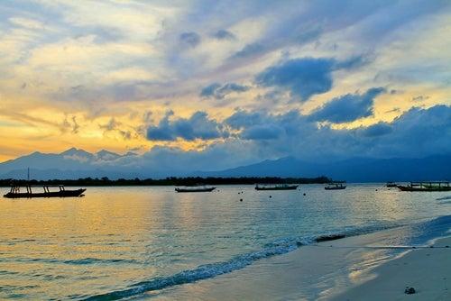 Atardecer en las islas Gili