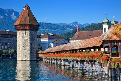 Torre del Agua en Lucerna
