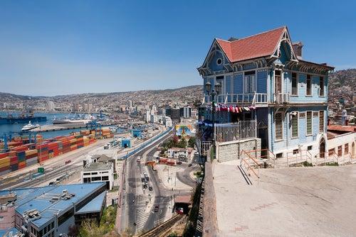 Vista del puerto de Valparaíso