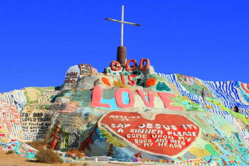 Salvation Mountain: una montaña de colores en California