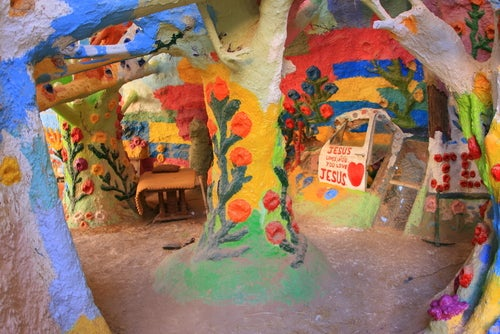 Detalle de Salvation Mountain