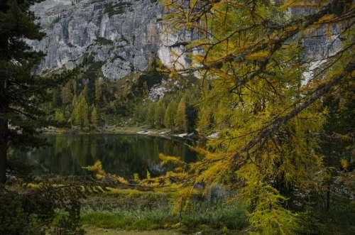 Lago Federa en Italia