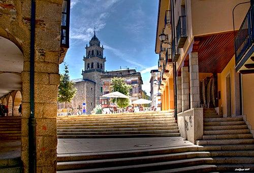 Plaza y basílica de Ponferrada
