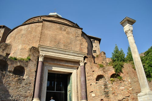 Templo de Rñomulo en el Foro Romano