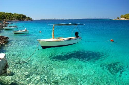 Bahía de Milna en la isla de Brac