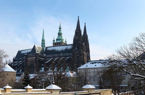 Catedral de Praga en invierno